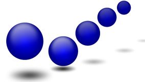 Blue Ball Bounce Royalty Free Stock Photography