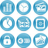 Blue ball business icons Royalty Free Stock Images
