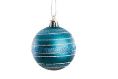 Blue ball of christmas Royalty Free Stock Images