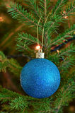 Blue ball christmas ornament Stock Photo