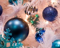Blue Ball Christmas Tree Ornament Stock Photos