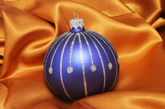 Blue ball on cloth Royalty Free Stock Photo