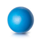 Blue ball 3D illustration Royalty Free Stock Images