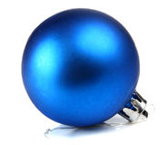 Blue ball decoration for a сhristmas tree Stock Image