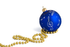 Blue ball decoration for christmas tree Royalty Free Stock Photos