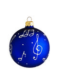 Blue ball decoration for a christmas tree Stock Photos
