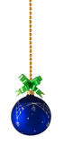 Blue ball decoration for a christmas tree Royalty Free Stock Photography