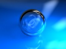 Blue ball glass Royalty Free Stock Images