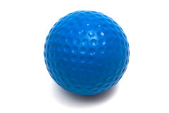 Blue ball golf. On a white background Stock Photo