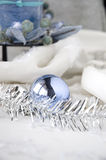 Blue ball ornament Stock Photo