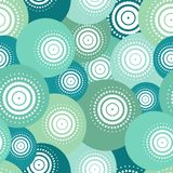 Blue ball seamless pattern Stock Images