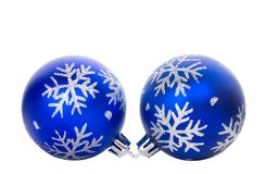Blue ball with snowflakes Royalty Free Stock Photos