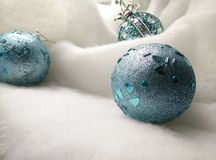 Blue ball toy. Sweet  holiday decor decoration new year Christmas atmosphere  toys Stock Photography
