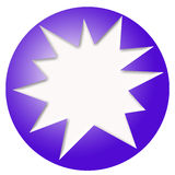 Blue ball and white star Royalty Free Stock Images
