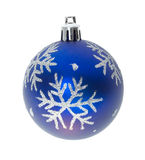 Blue Ball With Snowflakes Stock Images