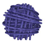 Blue ball of wool Royalty Free Stock Photo