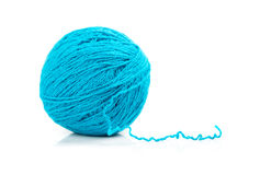 Blue ball of yarn Stock Image