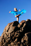 Blue Ballerina. Ballerina in blue Royalty Free Stock Images