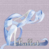 Blue Ballet Shoes. With high heels on canvas Royalty Free Stock Photo