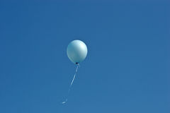 Blue balloon Stock Image