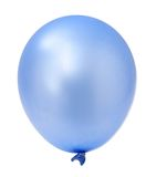 Blue balloon. One blue balloon isolated on white background Stock Image