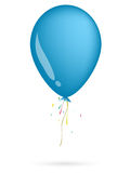 Blue balloon. On the white background Stock Photo