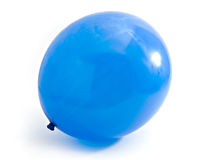 Blue balloon decoration. Isolated at white background Stock Images