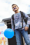 Blue balloon Royalty Free Stock Photography