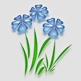 Blue balloon garden Stock Image