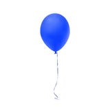 Blue balloon icon  on white background Royalty Free Stock Photos