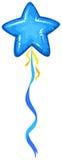 Blue balloon in star shape stock illustration
