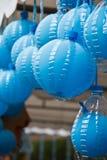 Blue balloons. Stock Photo