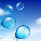 Blue balloons Royalty Free Stock Photo
