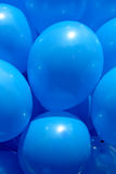 Blue balloons Stock Image