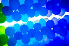 Green balloons make a nice background Royalty Free Stock Images