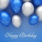 Blue balloons background. 3d illustration Royalty Free Stock Image