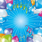 Blue balloons background. Festive background Stock Photos