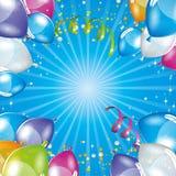 Blue balloons background Stock Photos