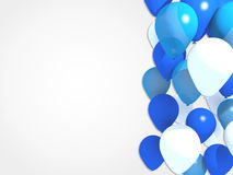 Blue balloons. 3d modeled blue balloons background Royalty Free Stock Images