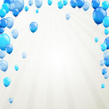 Blue balloons. Illustration of flying blue balloons Stock Image