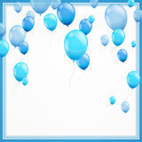 Blue balloons. Illustration of blue balloons in a frame Stock Photography