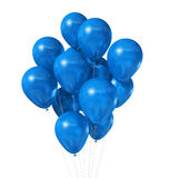 Blue balloons isolated on white. 3D blue air balloons isolated on white background Stock Image
