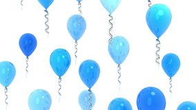 Blue balloons, seamless loop and alpha channel. stock video