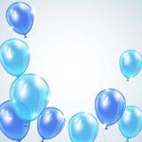 Blue balloons stock illustration