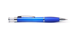 Blue Ballpoint Pen Royalty Free Stock Image