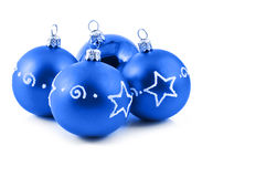 Blue balls. And copy-space Royalty Free Stock Photo