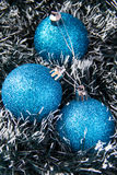 Blue balls. For Christmas tree Stock Images
