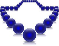 Blue balls in arrow form. Doted arrow made of shiny balls illustration ( version Stock Image