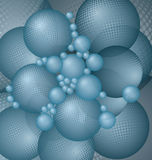 Blue balls background vector. Vector abstract background with blue balls stock illustration