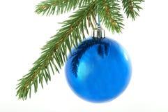 Blue balls , christmas Royalty Free Stock Photos